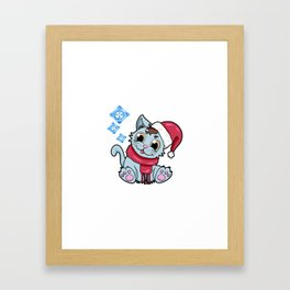 xmas kitty Cat Christmas Winter Framed Art Print
