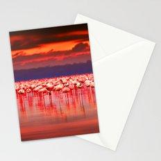 Flamingo scape Stationery Cards
