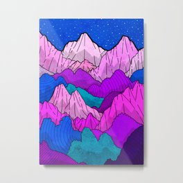 The night time hills Metal Print