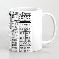 cityscape Mugs featuring cityscape by Anna Grunduls
