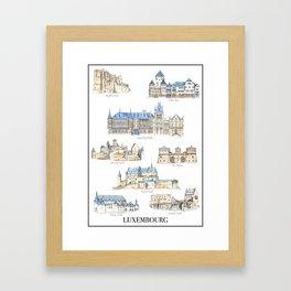 Luxembourg Castles Framed Art Print