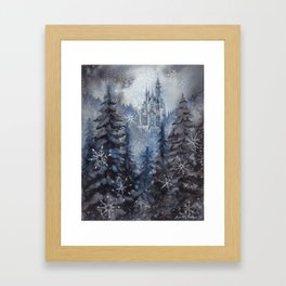 Snow Starlight Framed Art Print