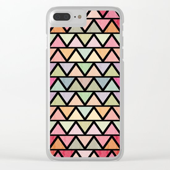 Lovely geometric Pattern V Clear iPhone Case