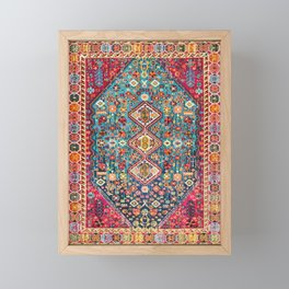 Heritage Oriental Boho Moroccan Style Design ART Framed Mini Art Print