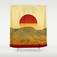 outdoor Shower Curtains featuring Warm abstraction by Stoian Hitrov - Sto