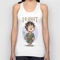 the hobbit Tank Tops featuring The Hobbit by Roberto Núñez