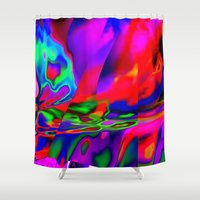 cracked Shower Curtains featuring Cracked by David  Gough