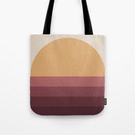 Minimal Retro Sunset / Sunrise - Ruby Tote Bag