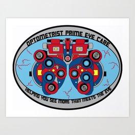 Optometrist Prime Eye Care Art Print
