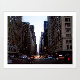City lights - New York Art Print