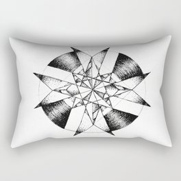 Crystalline Compass Rectangular Pillow