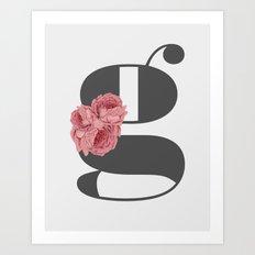 Typography Poster, black and white print, Alphabet art print Art Print