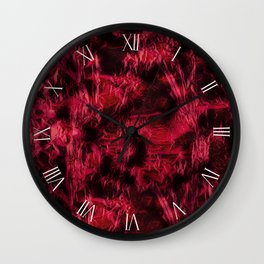Dark claret stained texture abstract Wall Clock