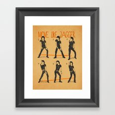 Move Like Jagger (MOVE LIKE COLLECTION) Framed Art Print
