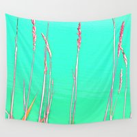 grass Wall Tapestries featuring Grass by Anne Millbrooke