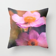 Sunset Flower Impression Throw Pillow