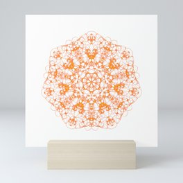 Magic Seven Mandala eden spirit orange Mini Art Print