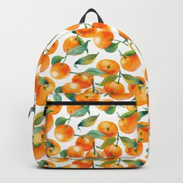 Mandarins With Leaves Backpack
