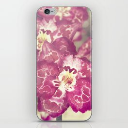 hot pink orchid iPhone Skin