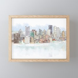 Pittsburgh Panorama Framed Mini Art Print