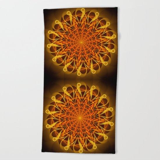 The mandala of energy Beach Towel