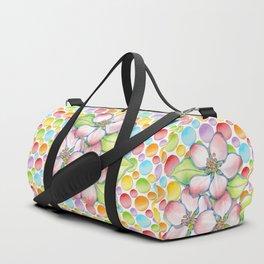 Apple Blossom Polka Dots Duffle Bag