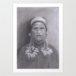 ANCIENT BORNEO WOMAN Art Print