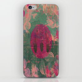 Three little feathers, native, feathers, pink, flowers, blue iPhone Skin