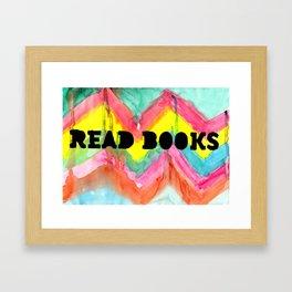 Read Books Framed Art Print