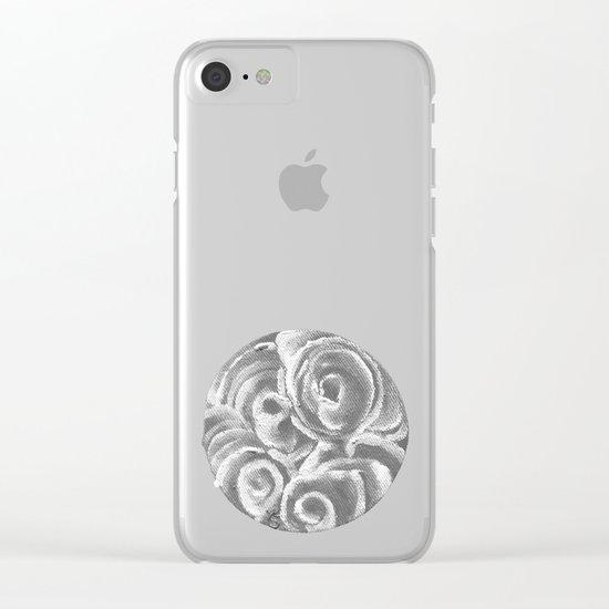 Peach Plum Dreams in the Dark Clear iPhone Case