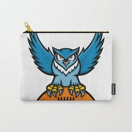 Great Horned Owl American Football Mascot Carry-All Pouch