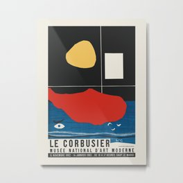 Le Corbusier - Exhibition poster for Musée National d'Art Moderne in Paris 1962/1963 Metal Print