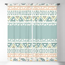 Colorful Geometric Boho Style 1 Blackout Curtain