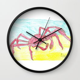 Giant Japanese Spider Crab Wall Clock