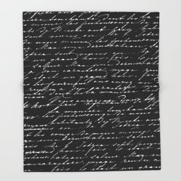In Black and White Throw Blanket