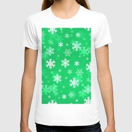 Light Green Snowflakes T-shirt