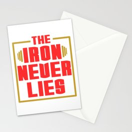 """A Nice Simple Lies Tee For Liars Saying """"The Iron Never Lies"""" T-shirt Design Stationery Cards"""