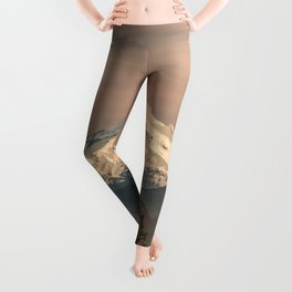Mount Hood Vintage Sunset - Nature Landscape Photography Leggings