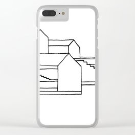 Stairs and Houses - 2 Clear iPhone Case