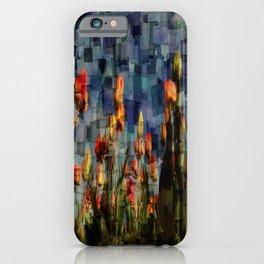 Champ de Tulipes Mosaïque iPhone Case