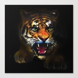 tiger in the dark Canvas Print