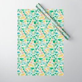 Jungle life with golden unicorn Wrapping Paper