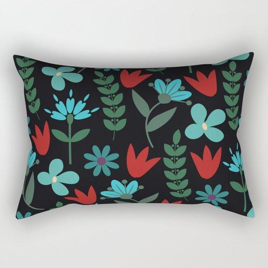 Flower Pattern XV Rectangular Pillow