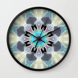 Aqua Peacock Inspired Mandala Wall Clock