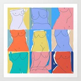 Beautiful Bodies Art Print