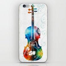 Colorful Violin Art by Sharon Cummings iPhone & iPod Skin