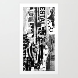 BLISSFUL BLACK @ Art Print
