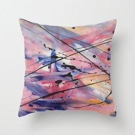 Faded Fabric (nail polish art) Throw Pillow