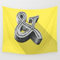 ampersand Wall Tapestries featuring ampersand by dennis field