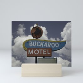 Buckaroo Motel Route 66 Mini Art Print